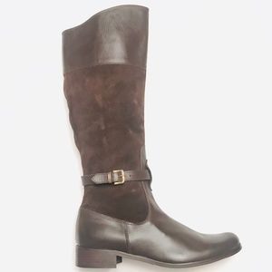 Charles David Brown Leather Riding Boots Size 8